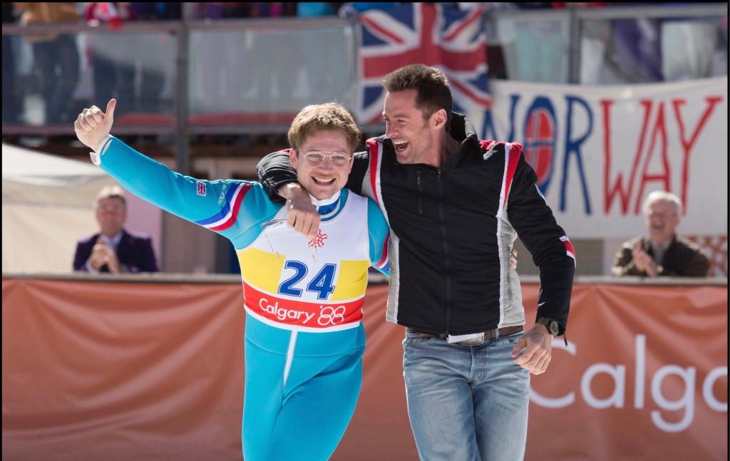 Taron Egerton and Hugh Jackman star in 20th Century Fox's EDDIE THE EAGLE