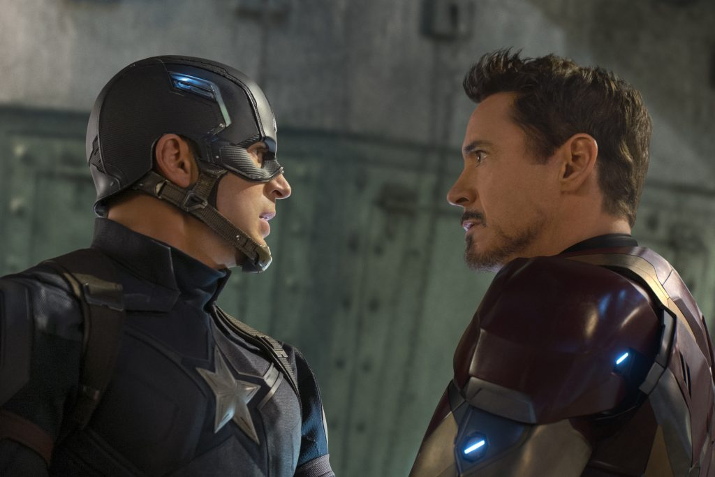 Chris Evans and Robert Downey Jr. star in Marvel's CAPTAIN AMERICA: CIVIL WAR