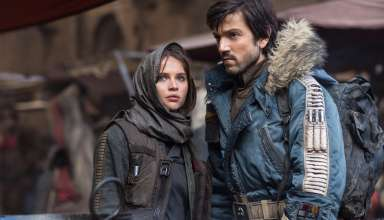 Felicity Jones and Diego Luna star in Lucasfilm's STAR WARS: ROGUE ONE