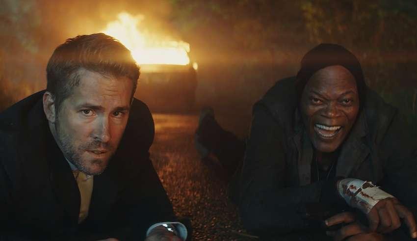 Ryan Reynolds and Samuel L. Jackson star in Lionsgate's THE HITMAN'S BODYGUARD