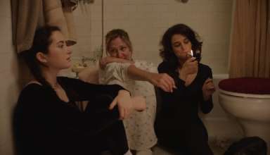 (L-r) Abby Quinn, Edie Falco and Jenny Slate star in Amazon Studios LANDLINE
