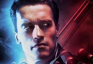 Poster image of Arnold Schwarzenegger in TERMINATOR 2: JUDGEMENT DAY