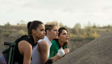 Ella Balinska, Kristen Stewart and Naomi Scott star in Sony Pictures' CHARLIE'S ANGELS