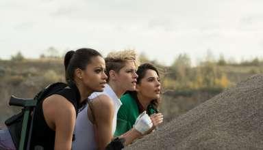 Ella Balinska, Kristen Stewart and Naomi Scott star in Sony Pictures' CHARLIE'S ANGELS