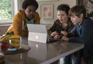 (L-R) Keith L. Williams, Brady Noon and Jacob Tremblay star in Universal Pictures' GOOD BOYS