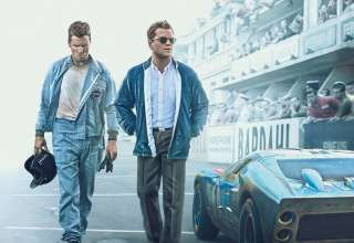 Poster image featuring Christian Bale and Matt Damon 20th Century Fox's in FORD V FERRARI