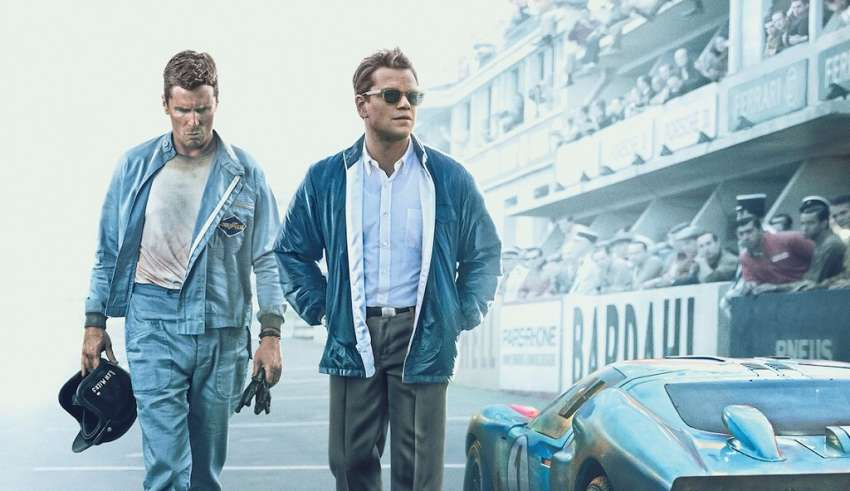 Poster image featuring Christian Bale and Matt Damon 20th Century Fox's in FORD V FERRARI