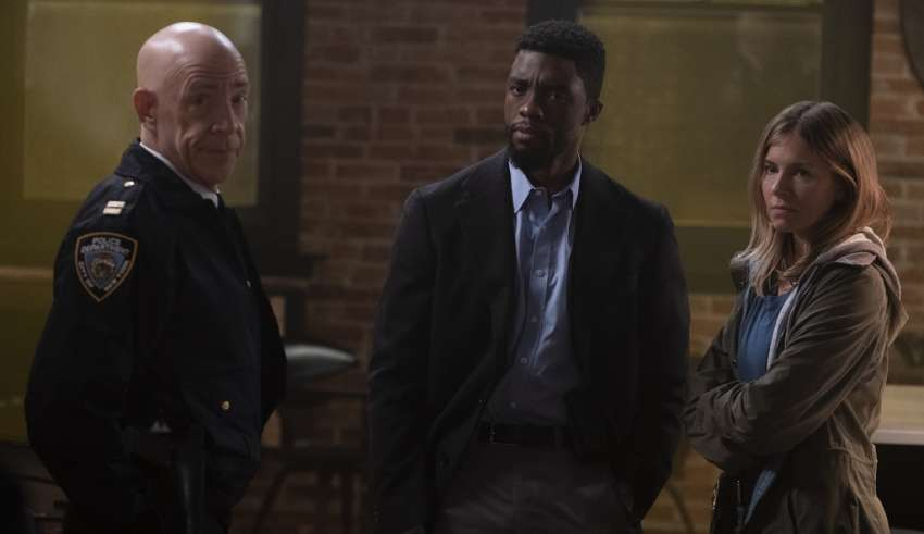 J.K. Simmons, Chadwick Boseman and Sienna Miller star in STX Entertainment's 21 BRIDGES